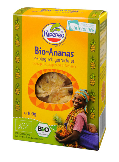 Getrocknete Ananas aus Tansania