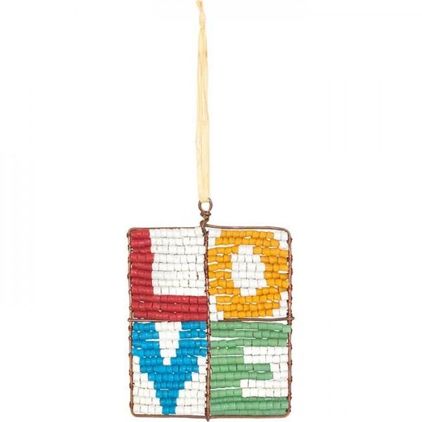 Upcycling Christbaumschmuck Love Liebe