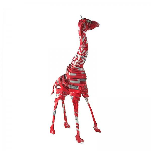 Giraffe - Recycling Blechtiere - L