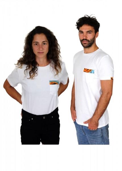 Nyeupe Pocket - Unisex - Weiß - Organic Shirt