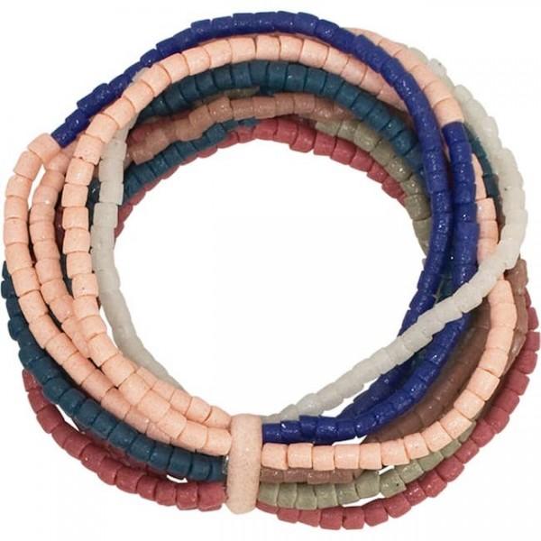 Namib Armband - Royale - Glasperlen