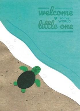 Recycling Geburtskarte - Turtle