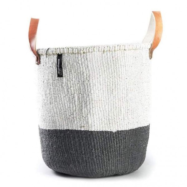 Kiondo Korb M - Duo Stripes - Grau