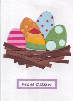 Recycling Osterkarte - Eggs