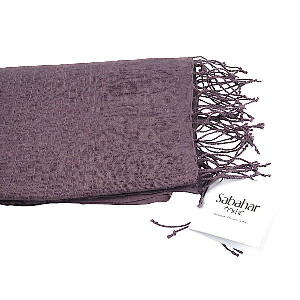 Telba - Schal aus Leinen - Unisex - Plum