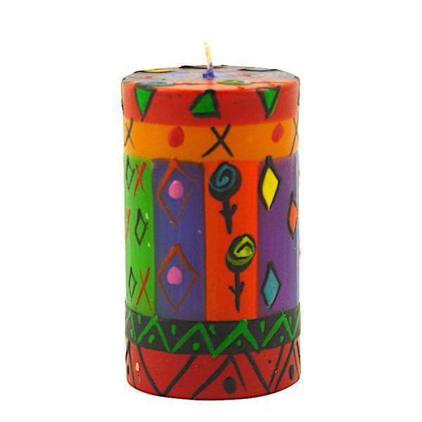 Bunte Kerzen - Handbemalt - Groß