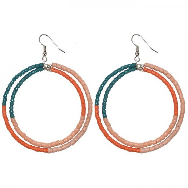 Fairtrade Ohrringe Hoops Grün Orange