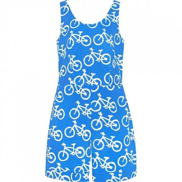 Bio Romper Bikes Blue Global Mamas
