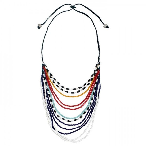 Namib Halskette - Multi - Glasperlen