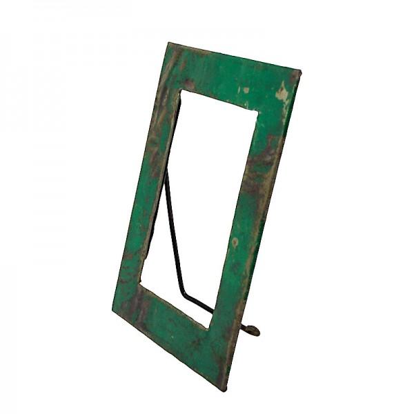 Upcycling Bilderrahmen - Aufsteller 15x20 - Grün