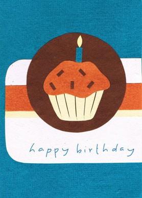 Recycling Geburtstagskarte - Cupcake