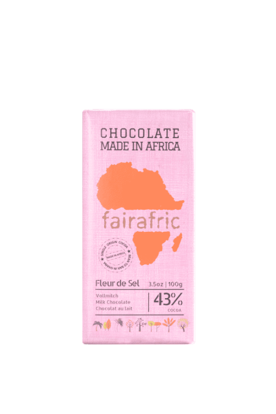 Faire Schokolade - Vollmich & Meersalz 43% - Ghana