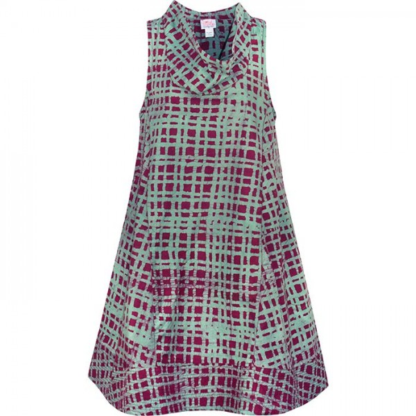 Eli Dress - Plaid Wine - Weinrot