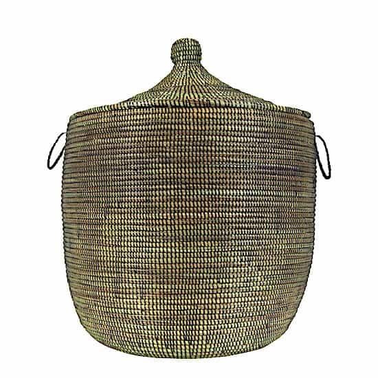 Wäschekorb Senegal S - Stripes - Schwarz