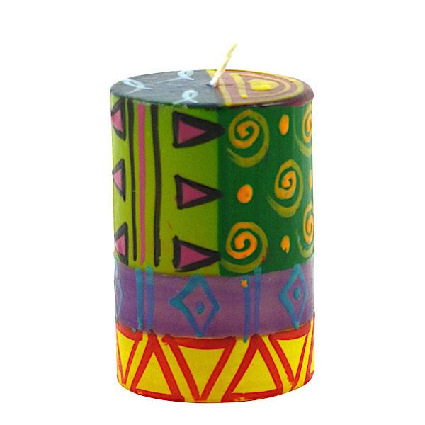 Bunte Kerzen - Handbemalt - Klein