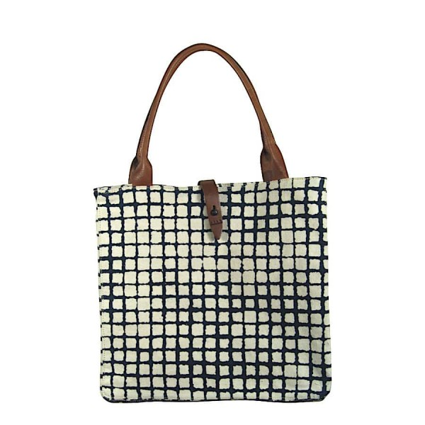 African Tote Bags - Safari - Windows Navy