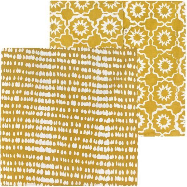 Afrikanische Kissenhüllen Kissen Kissenbezüge Bio Baumwolle Fairtrade bunt Gelb