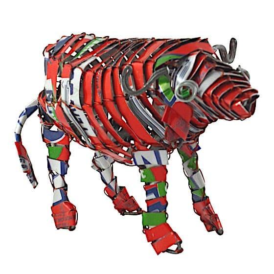 Büffel - Recycling Blechtiere - M