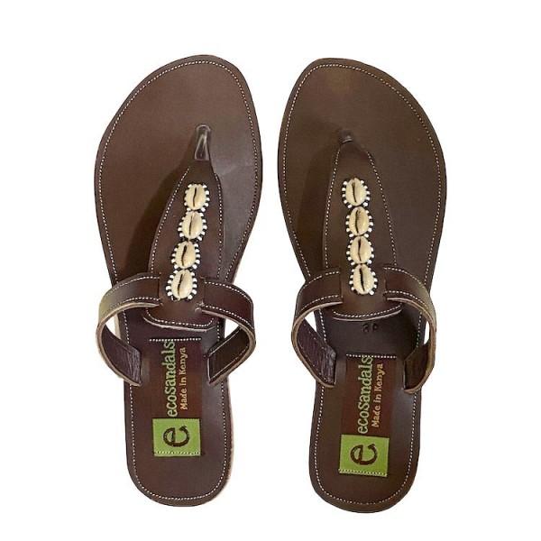 Afrikanische Sandalen - Tula - Braun