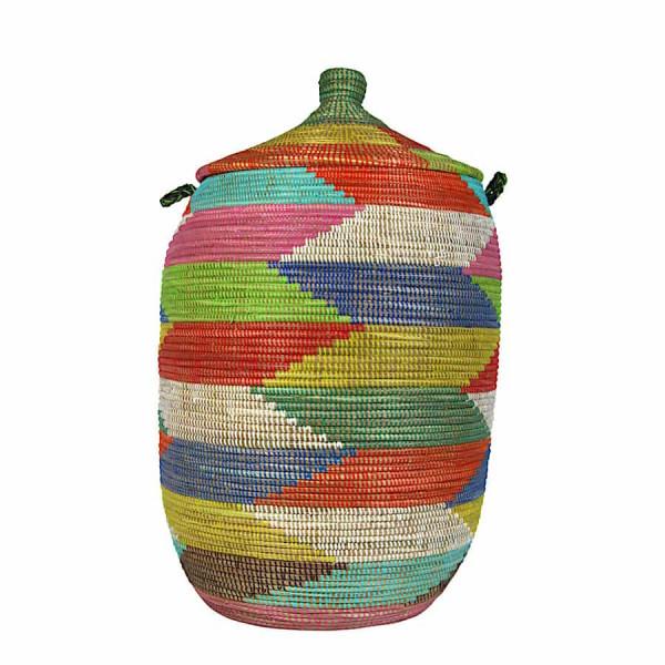 Wäschekorb Senegal XXL - Zick Zack - Bunt