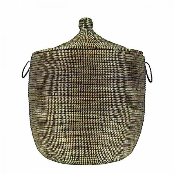Wäschekorb Senegal M - Stripes - Schwarz