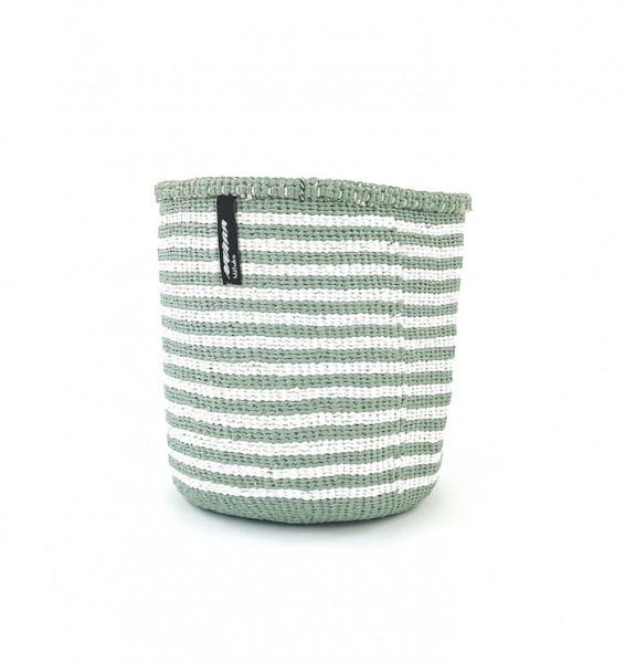 Kiondo Korb S - Thin Stripes - Hellgrün