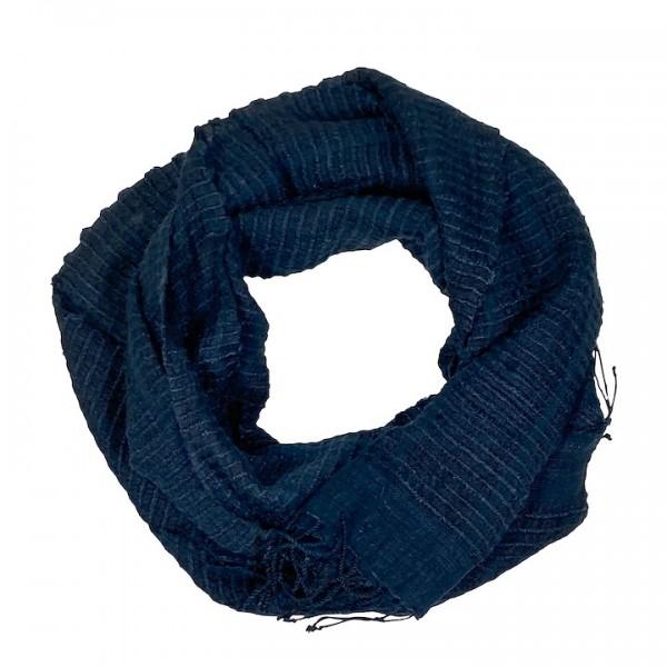 Queen Saba - Schal aus Seide - Unisex - Blau
