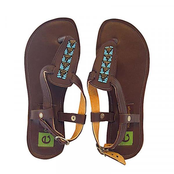Afrikanische Sandalen - Zuri - Braun