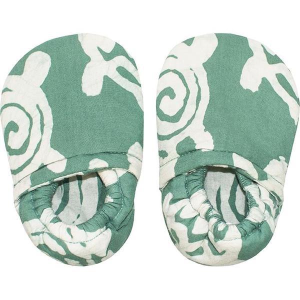Bio Babypuschen - Turtle - Grün