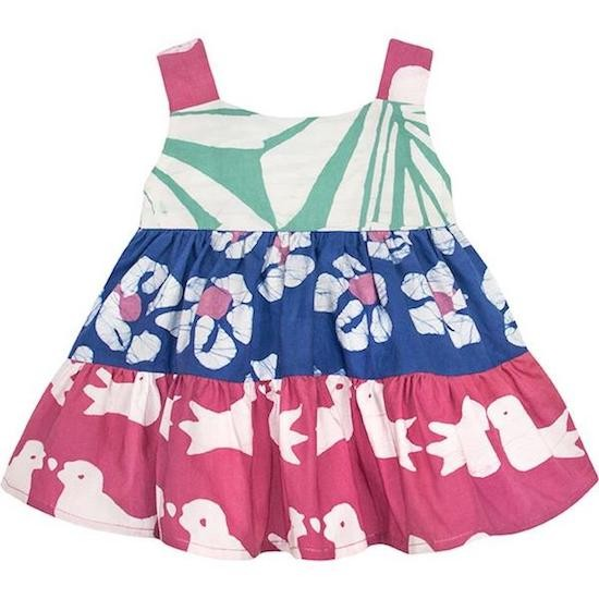 Babys Carousel Dress - Two Birds Rose