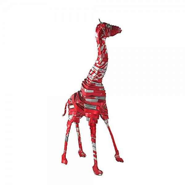 Giraffe - Recycling Blechtiere - M