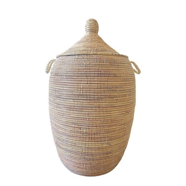 Wäschekorb Senegal XL - Stripes - Weiß
