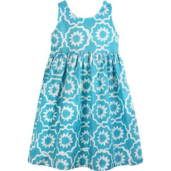 Girls Sundress - Chroma Sky Blue
