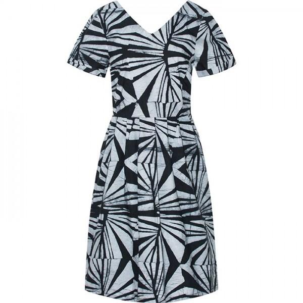 Verona Dress - Rays Black - Schwarz