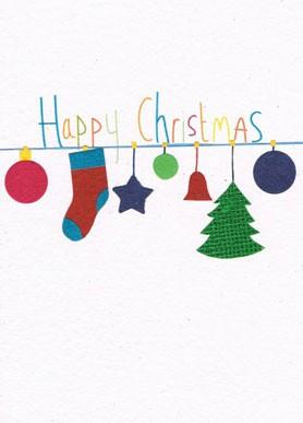 Recycling Weihnachtskarte - Bits