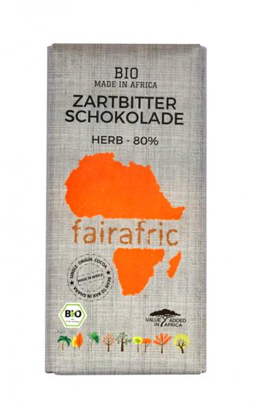 Fairafric Schokolade aus Ghana Zartbitter 80%