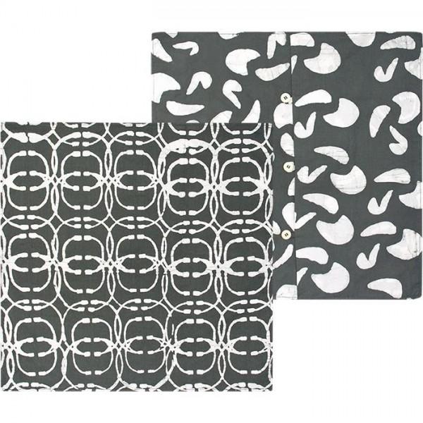 Afrikanische Kissenhüllen - Orbit 50x50 - Charcoal