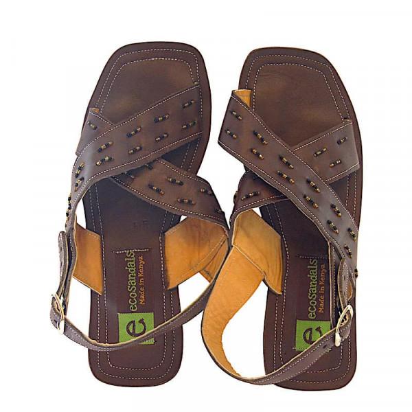 Afrikanische Sandalen - Umba Beaded - Braun