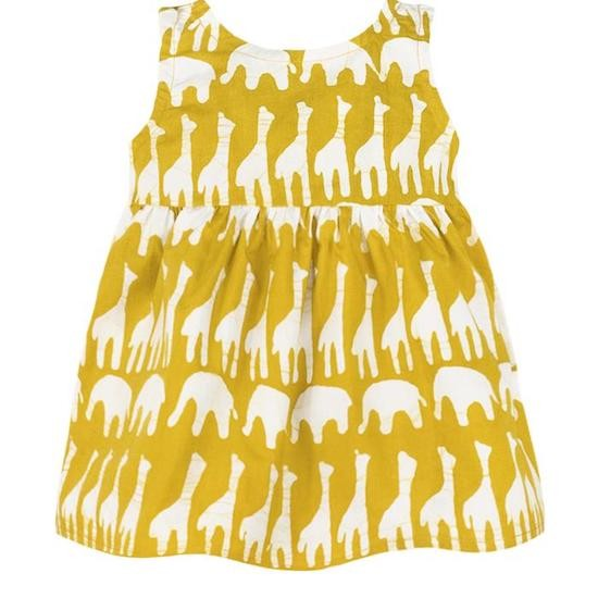 Babys Sundress - Sahara Mustard