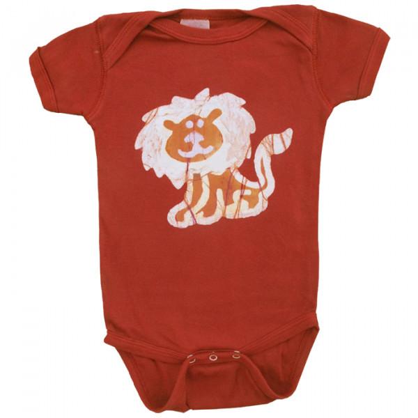 Bio Baby Strampler - Löwe - Kurzarm