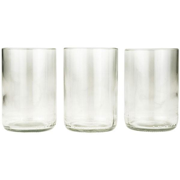 Upcycling Gläser - 3er-Set Klar - Weinflasche