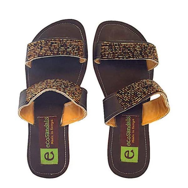 Afrikanische Sandalen - Mumbi - Braun
