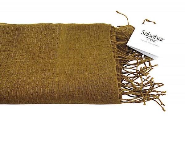 Telba - Schal aus Leinen - Unisex - Gold