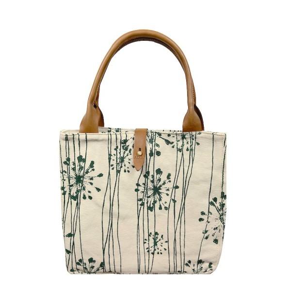 African Tote Bags - Safari - Acacia Flower Green