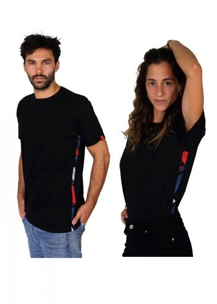 Nyeusi Stripes - Unisex - Schwarz - Organic Shirt