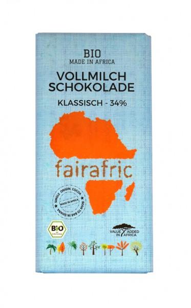 Bio Schokolade - Vollmilch 34% - Ghana