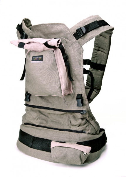 African Baby Carrier Babytrage aus Hanf Taupe