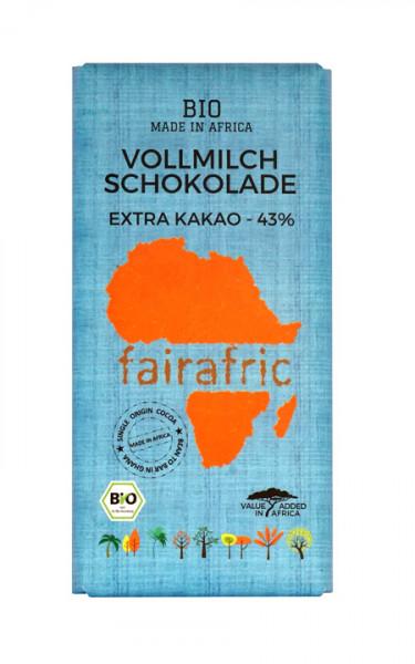 Bio Schokolade aus Ghana Vollmich 43%