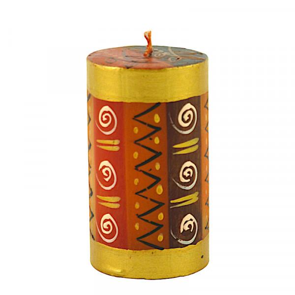 Safari Gold Kerzen - Handbemalt - Groß