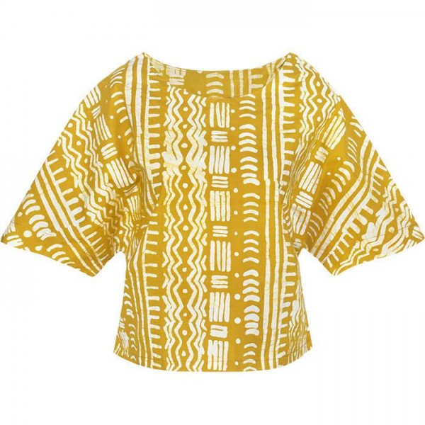 Bio Blusen Damenbluse Global Mamas Kama Fairtrade Ethno Organic Blouse